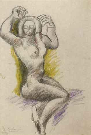 Le Corbusier-Baigneuse assise-1935