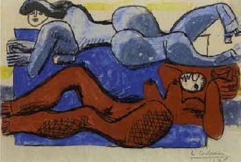 Le Corbusier-Etude pour Deux femmes etendues-1938