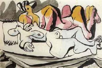 Le Corbusier-Deux femmes nues allongees-1933