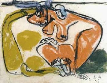 Le Corbusier-Femme et taureau, Bogota-1951