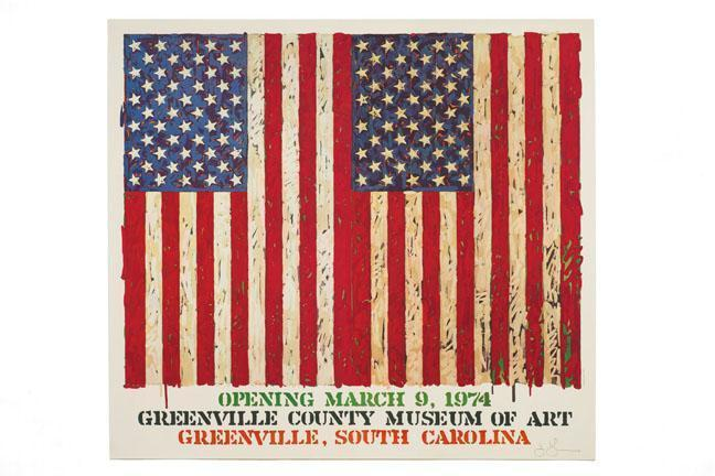 Jasper Johns-Flag I (Greenville County Museum Of Art)-1974