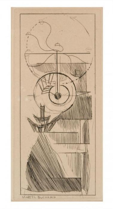 Marcel Duchamp-Coffee Mill-1947