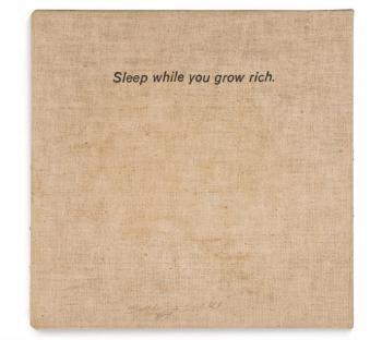 John Baldessari-Sleep While You Grow Rich-1966