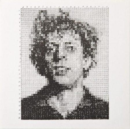 Chuck Close-Phil / Phil (From Rubber Stamp Portfolio)-1976