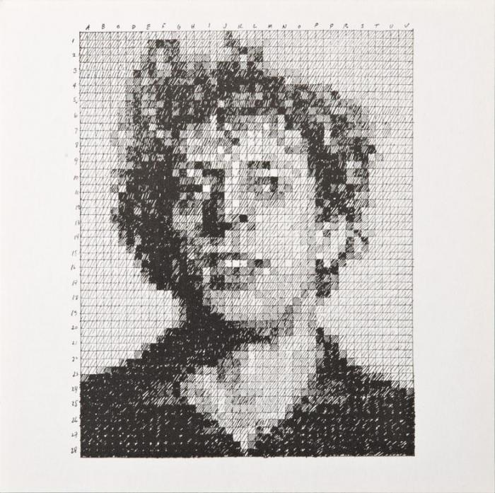 Chuck Close-Phil / Phil (From Rubber Stamp Portfolio)-1976