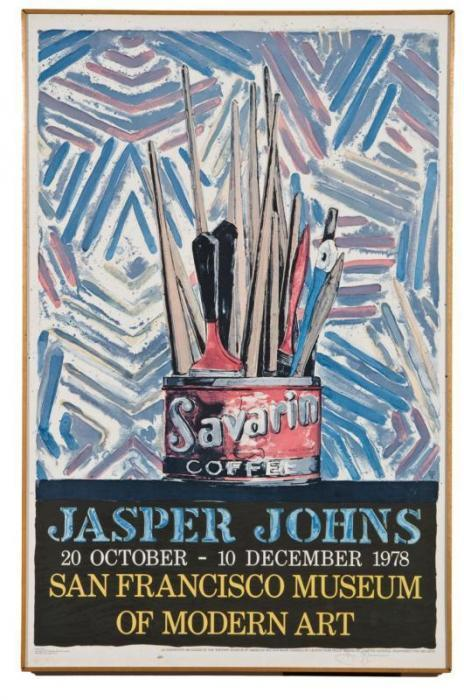 Jasper Johns-Savarin (For San Francisco Museum of Modern Art exhibition)-1978