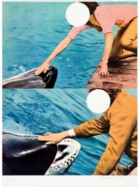 John Baldessari-Two Whales (with People)-2010