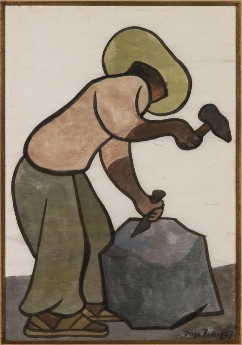 Diego Rivera-Stone Cutter-1947