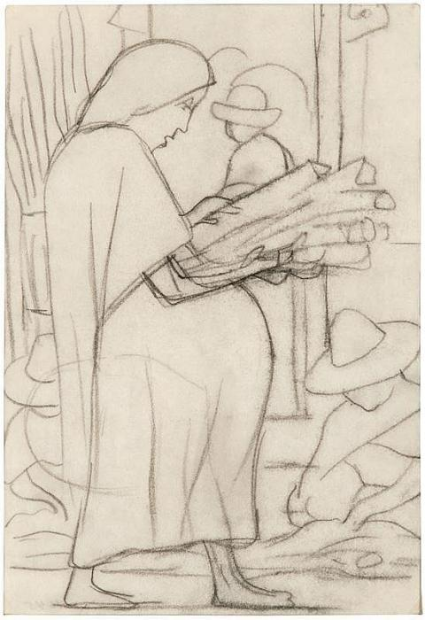 Diego Rivera-Study for Mural-