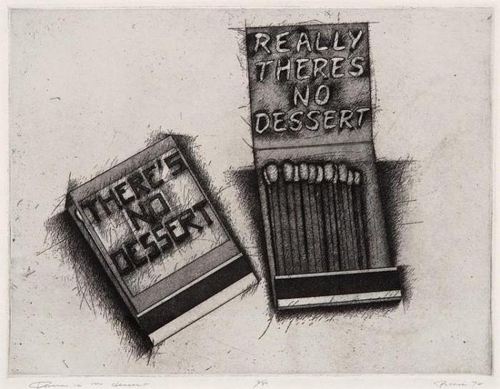Richard Prince-Really There's No Dessert (Matchbook series)-1974