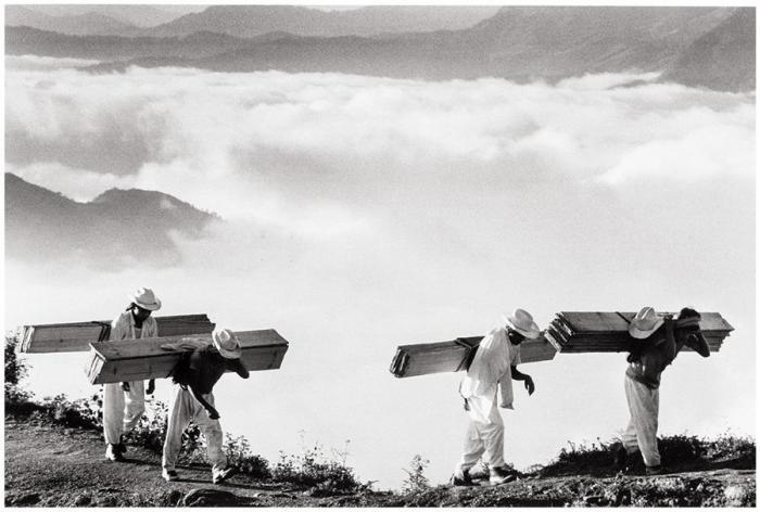 Sebastiao Salgado-Wood Delivery Men, Eastern Sierra Madre, Mexico-1980