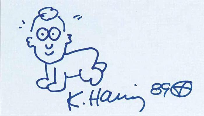 Keith Haring-Keith Haring - Untitled - Atomic Baby, Self Portrait-1989