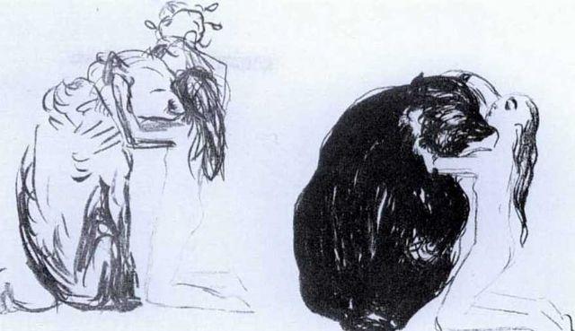 Edvard Munch-Bjornen / Der Bar, from Alpha and Omega-1909