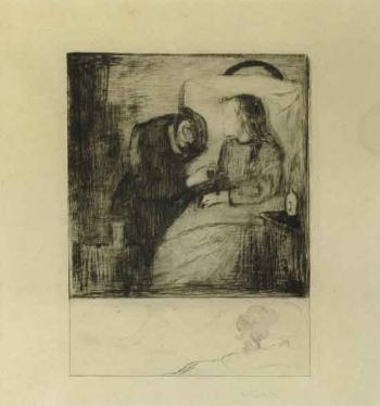 Edvard Munch-Das kranke Kind I / Das kranke Madchen / The Sick Child / The Sick Woman / Det syke barn (Schiefler 7; Woll 7)-1895
