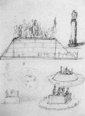 Lucio Fontana-Studio per monumenti-1942