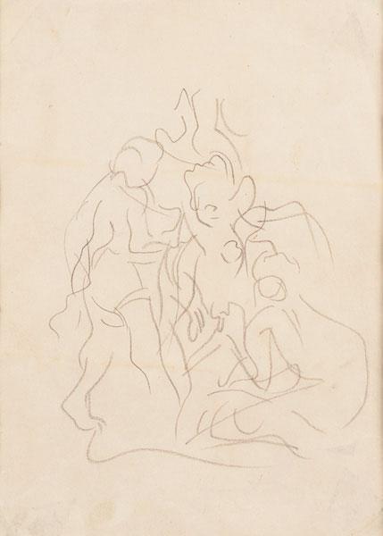 Lucio Fontana-Progetto per ceramica-1950