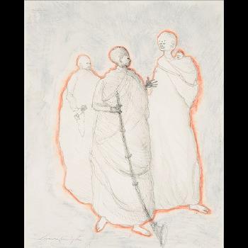 Leonora Carrington-Three Figures and a Child-