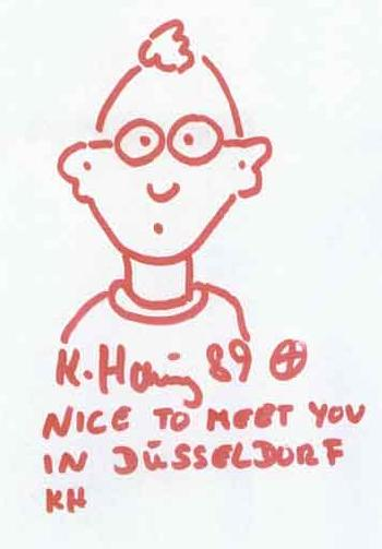 Keith Haring-Keith Haring - Autoportrait: Nice to meet you in Dusseldorf-1989