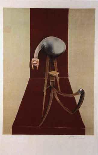 Francis Bacon-Panneaux d'un triptyque-