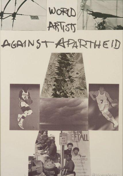 Robert Rauschenberg-Robert Rauschenberg - World Artists Against Apartheid-1983