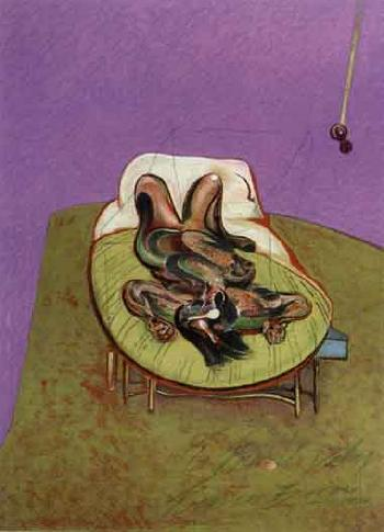 Francis Bacon-Femme allongee-