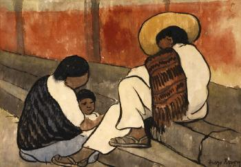 Diego Rivera-Mexican Family-1935
