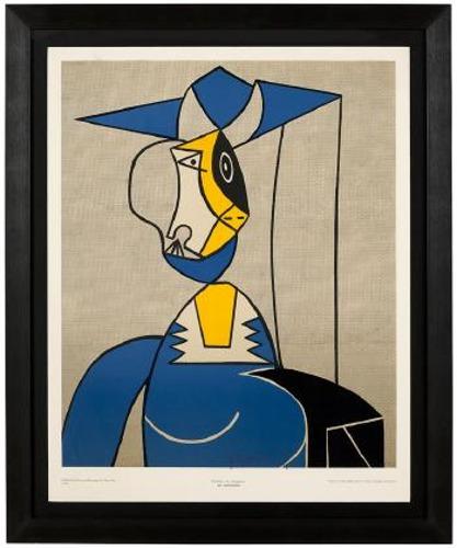 Roy Lichtenstein-Femme au chapeau-1962