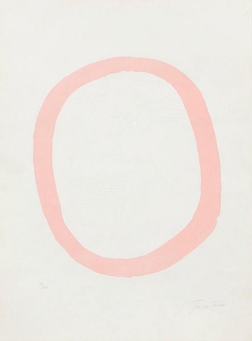 Lucio Fontana-Nudo rosa-1967