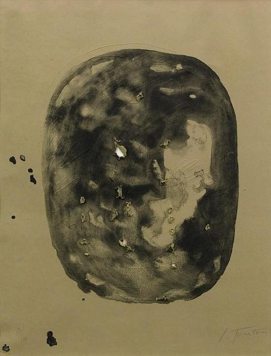 Lucio Fontana-Concetto spaziale (vite)-1968