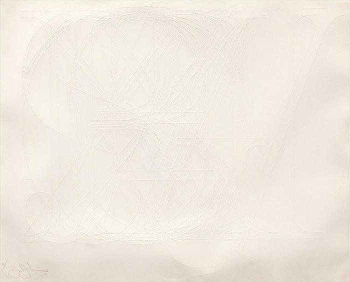 Jasper Johns-Alphabet (ULAE 70), (Embossed Alphabet)-1969