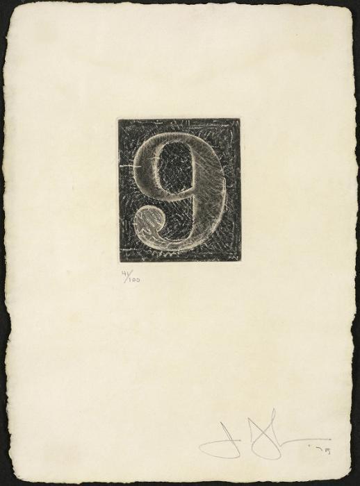 Jasper Johns-Figure 9 (Universal Limited ArtEditions 165)-1975