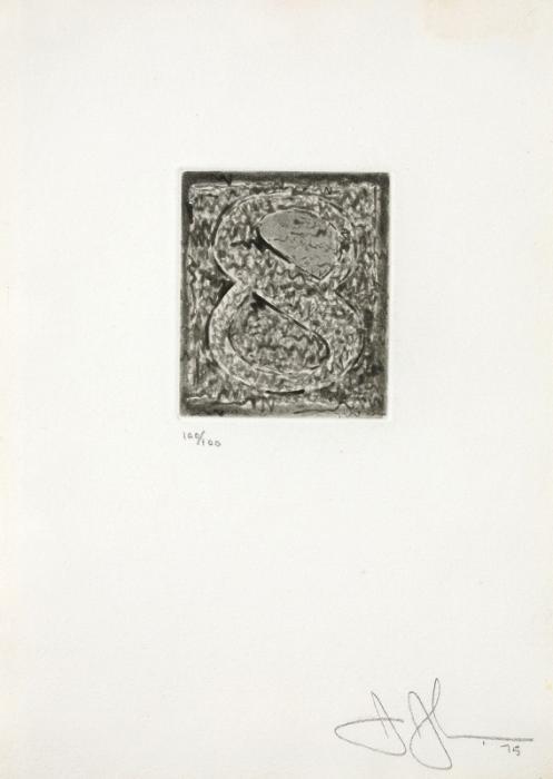 Jasper Johns-Figure 8 (Ulae 164)-1975