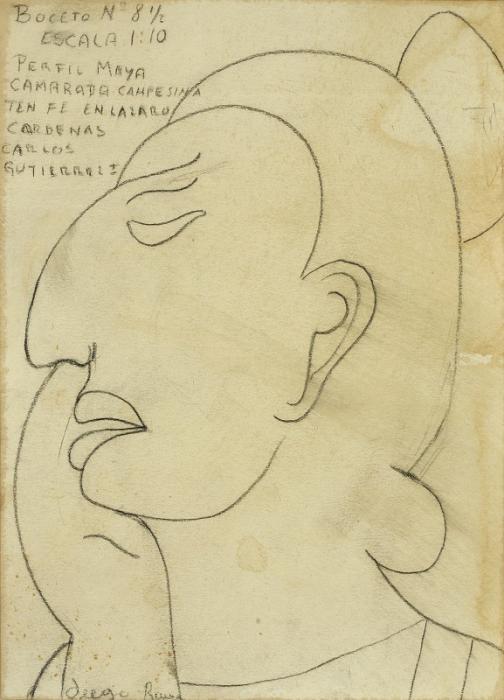 Diego Rivera-Perfil Maya-