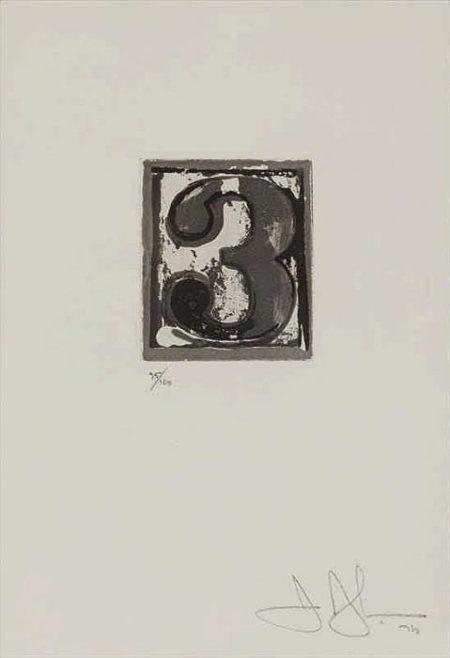 Jasper Johns-3 Universal Limited Art Edition 159-1975