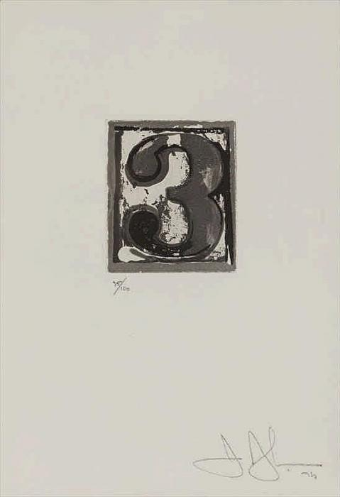 Jasper Johns-3 Universal Limited Art Edition 159-1975