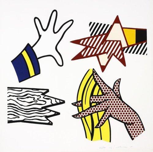 Roy Lichtenstein-Study of Hands-1981