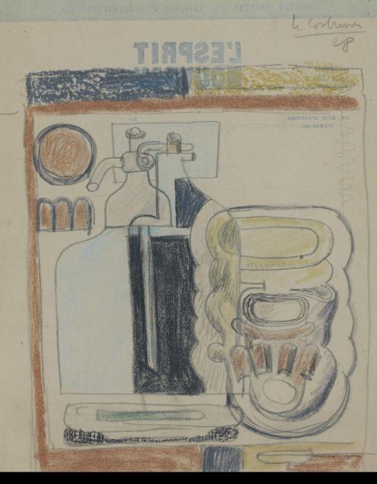 Le Corbusier-Composition au siphon-1928