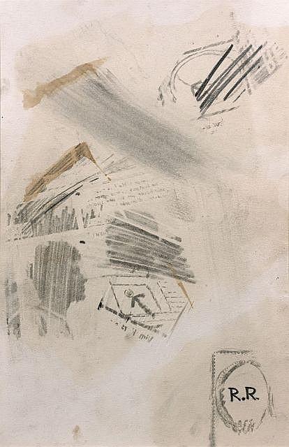 Robert Rauschenberg-Robert Rauschenberg - Sans titre (Untitled)-1962