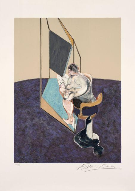 Francis Bacon-Three Studies of Male Back (Panneau central)-1987