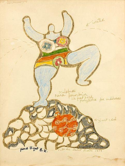 Niki de Saint Phalle-Nana Fountain-1967