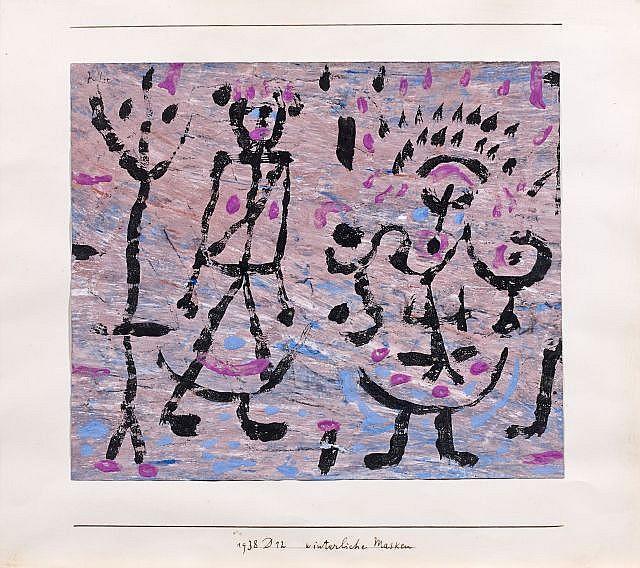 Paul Klee-Winterliche Masken-1938