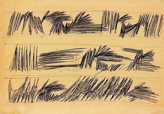 Lucio Fontana-Studi per Decorazione-1955