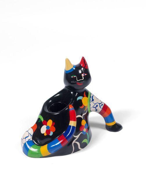 Niki de Saint Phalle-Chat vase-1986