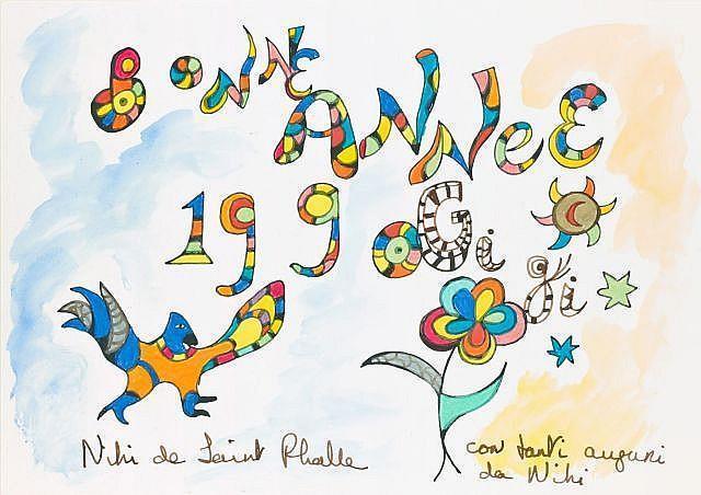 Niki de Saint Phalle-Bonne Annee-1990