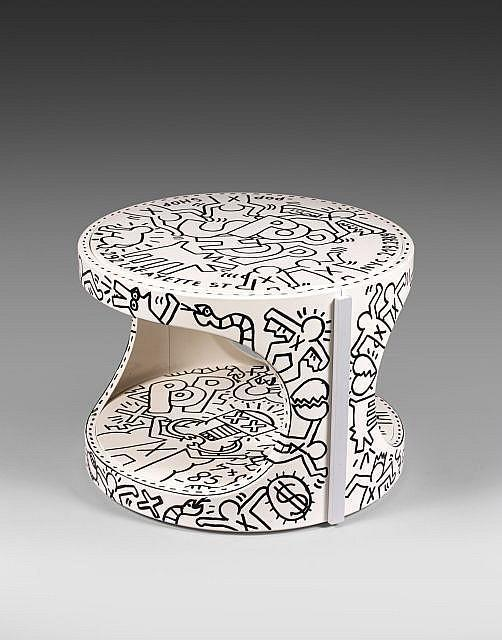 Keith Haring-Keith Haring - Tabouret Pop Shop-1985