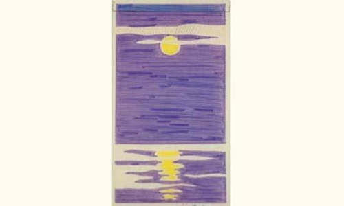 Roy Lichtenstein-Study for Night Seascape Banner-1966