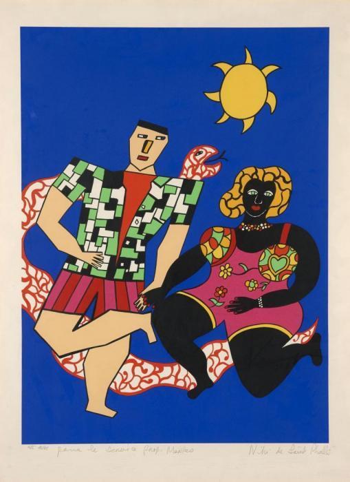 Niki de Saint Phalle-Les amoureux-1985