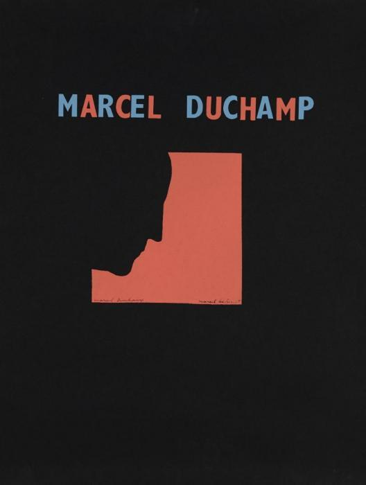 Marcel Duchamp-Autoportrait de profil (Fond rouge) (Self Portrait in Profile)-1959