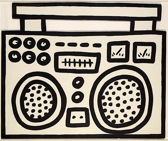 Keith Haring-Keith Haring - Boom Box-1984
