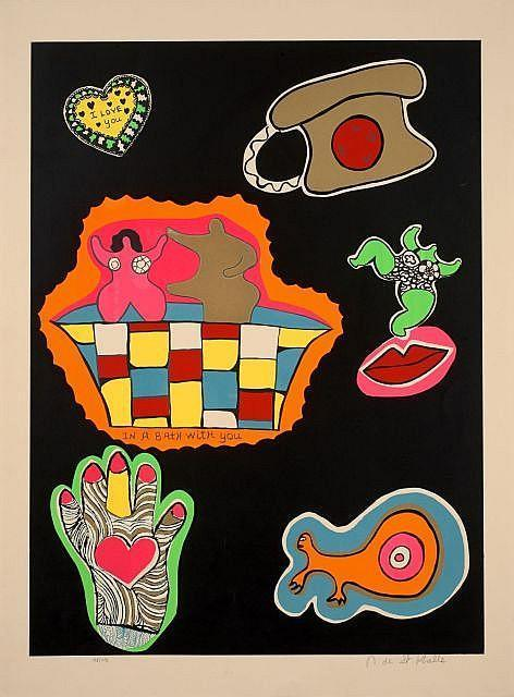 Niki de Saint Phalle-Nana Power III, (In a Bath With You)-1970